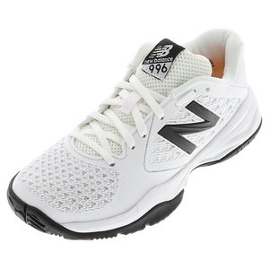 Juniors` 996v2 Tennis Shoes White and Silver