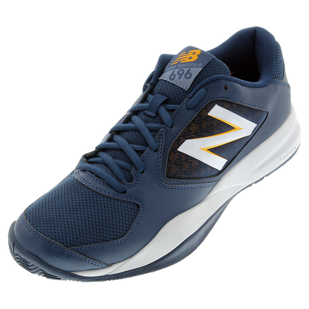 Men's 696v2 D Width Tennis Shoes Gray And Yellow