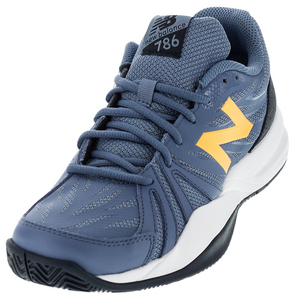 NEW BALANCE MENS 786V2 D WIDTH TENNIS SHOES GY/IMPER