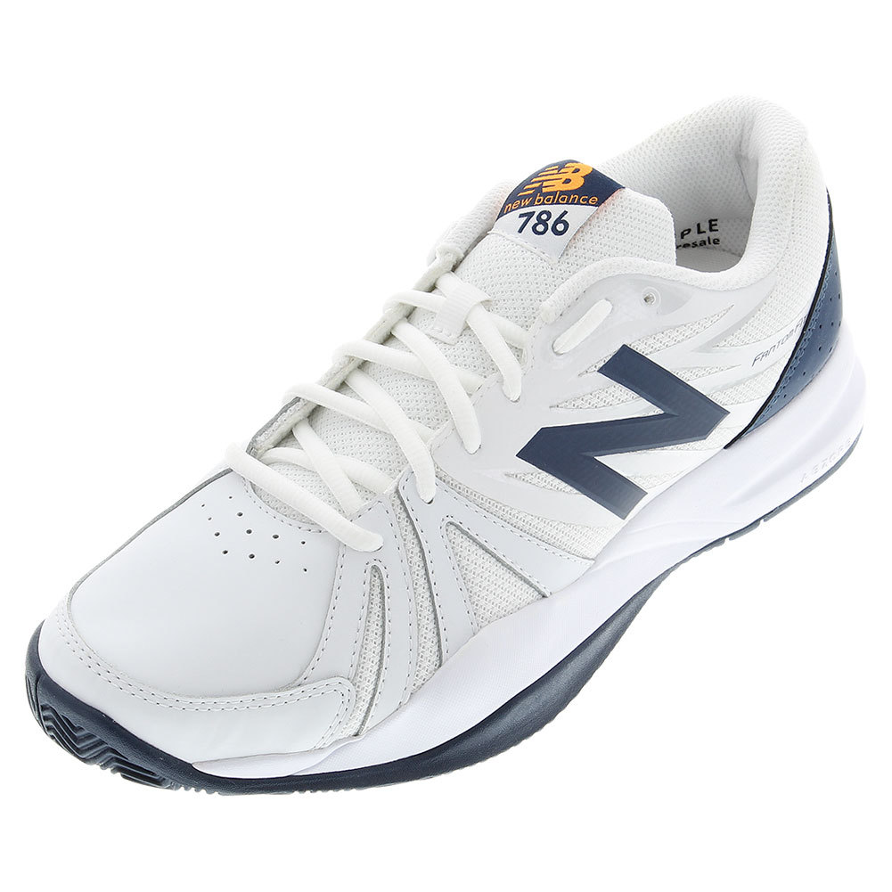 Men's 786v2 2e Width Tennis Shoes White And Blue