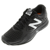 Men`s 996v2 D Width Tennis Shoes Black by NEW BALANCE