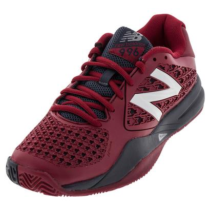 Men`s 996v2 D Width Tennis Shoes Red and Gray