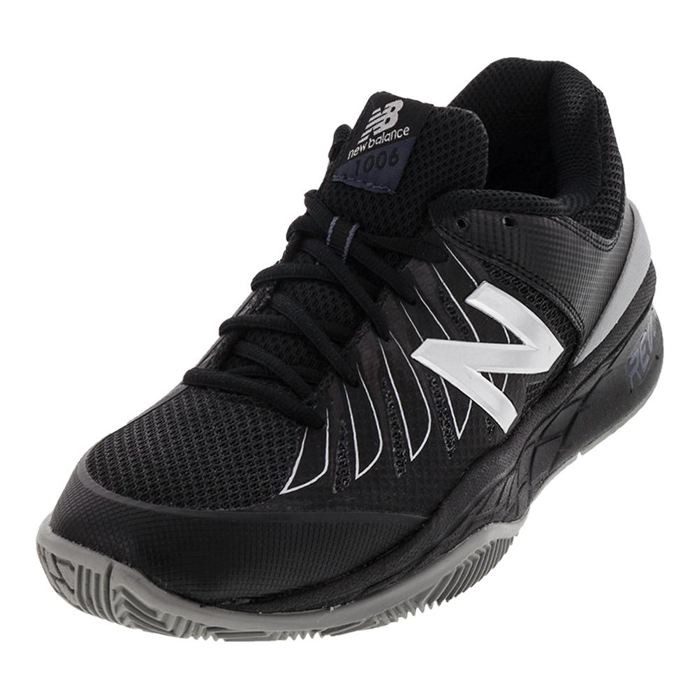 Men's 1006v1 D Width Tennis Shoes Black And Silver