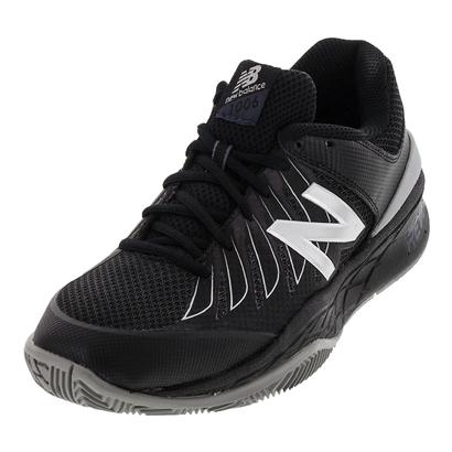 Men`s 1006v1 4E Width Tennis Shoes Black and Silver