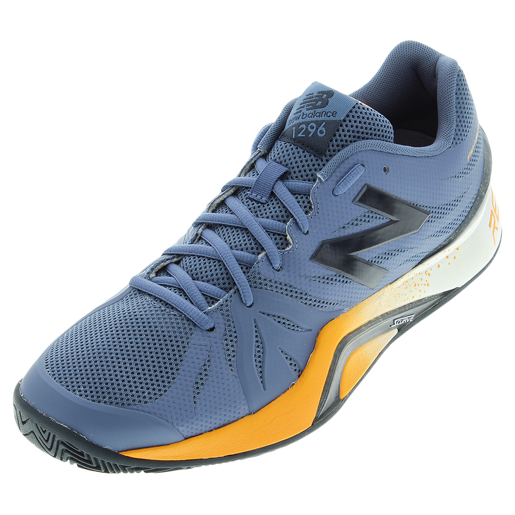 Men's 1296v2 D Width Tennis Shoes Crater And Yellow