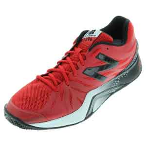 Men`s 1296v2 D Width Tennis Shoes Red and Black