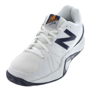 Men`s 1296v2 D Width Tennis Shoes White and Blue