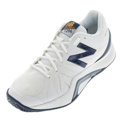 Men`s 1296v2 2E Width Tennis Shoes White and Blue