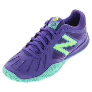 Women`s 60v1 B Width Tennis Shoes Purple and Teal
