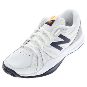 Women`s 786v2 D Width Tennis Shoes White and Blue