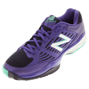 Women`s 896v1 B Width Tennis Shoes Purple and Teal