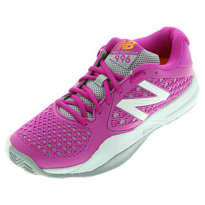 Women`s 996v2 B Width Tennis Shoes Pink and Gray
