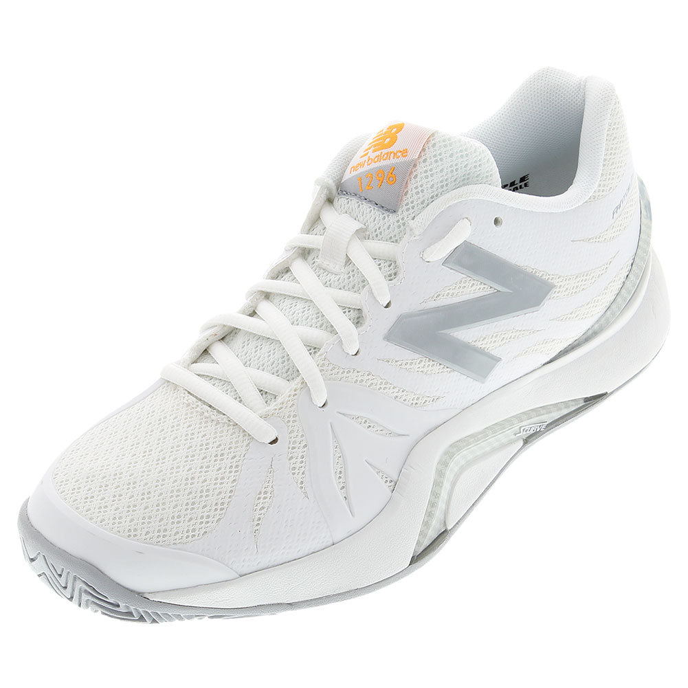 Women's 1296v2 B Width Tennis Shoes White And Icarus