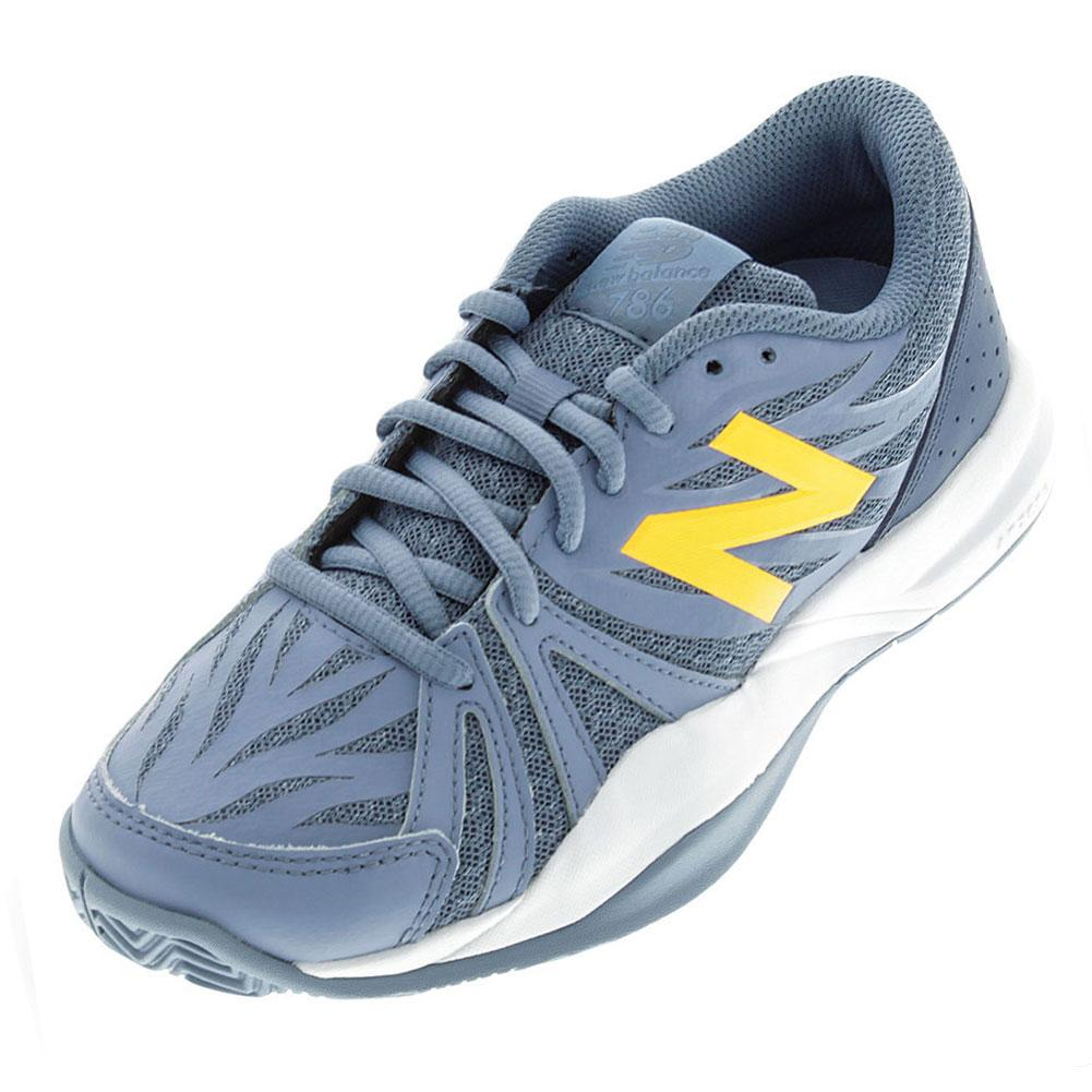 Women's 786v2 B Width Tennis Shoes Gray And Yellow