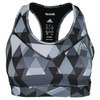 ADIDAS Women`s Techfit Boost Bra Black and Matte Silver Print
