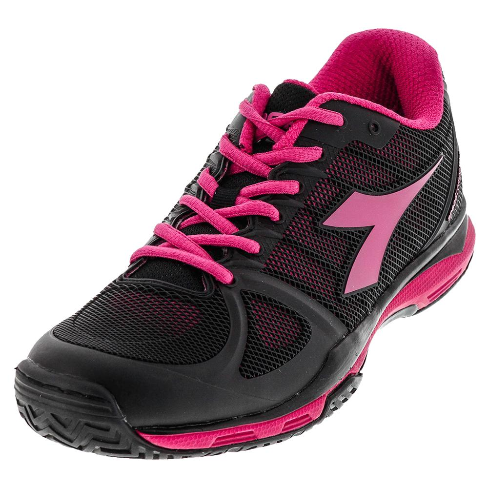 Women's Speed Competition Ag Tennis Shoes Black And Bright Rose