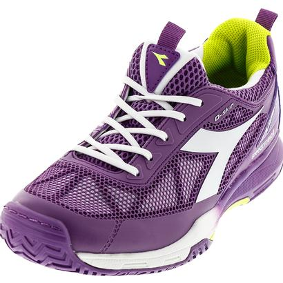 Women`s S Pro Evo II AG Tennis Shoes Violet Berry and White