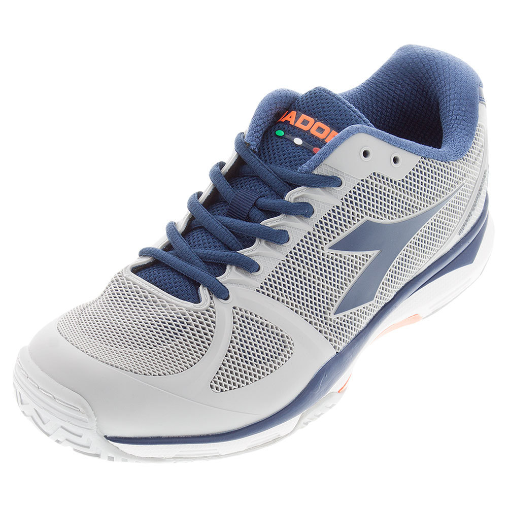Men's Speed Competition Ag Tennis Shoes Gray And Navy