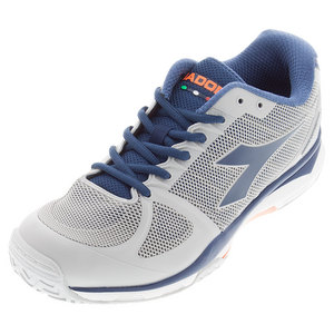 Men`s Speed Competition AG Tennis Shoes Gray and Navy