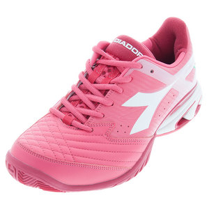 Women`s S Star K IV AG Tennis Shoes Paradise Pink and Super White