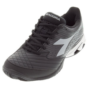 Men`s S Star K VII AG Tennis Shoes Black and Silver