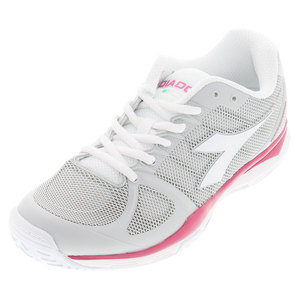 Women`s Speed Competition AG Tennis Shoes White and Bright Rose