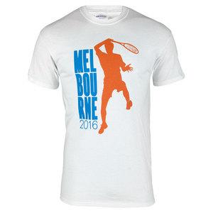 Unisex Aussie Melbourne Tennis Tee White