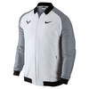 NIKE Men`s Rafa Premier Tennis Jacket White and Stealth