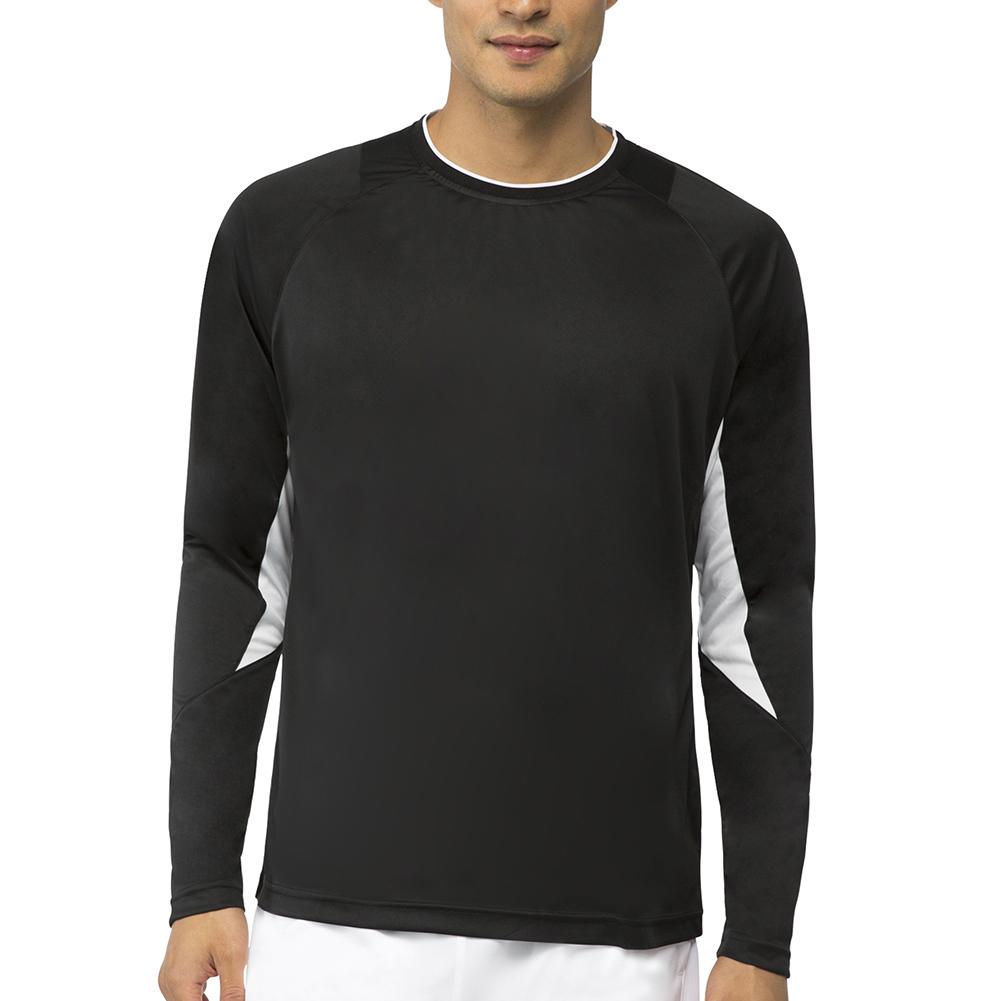 Men's Core Long Sleeve Tennis Top Black