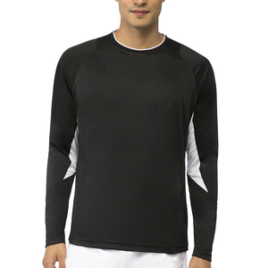 Men`s Core Long Sleeve Tennis Top Black