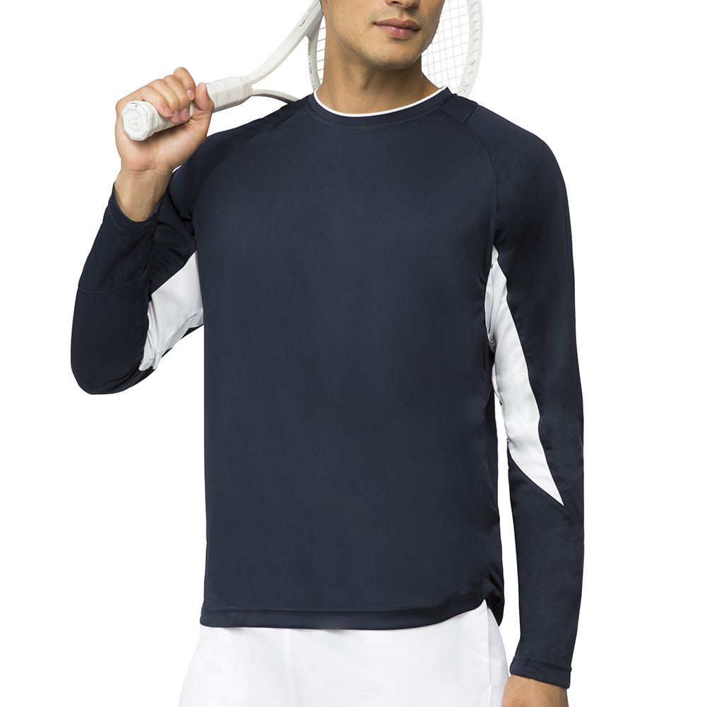 Men's Core Long Sleeve Tennis Top Peacoat
