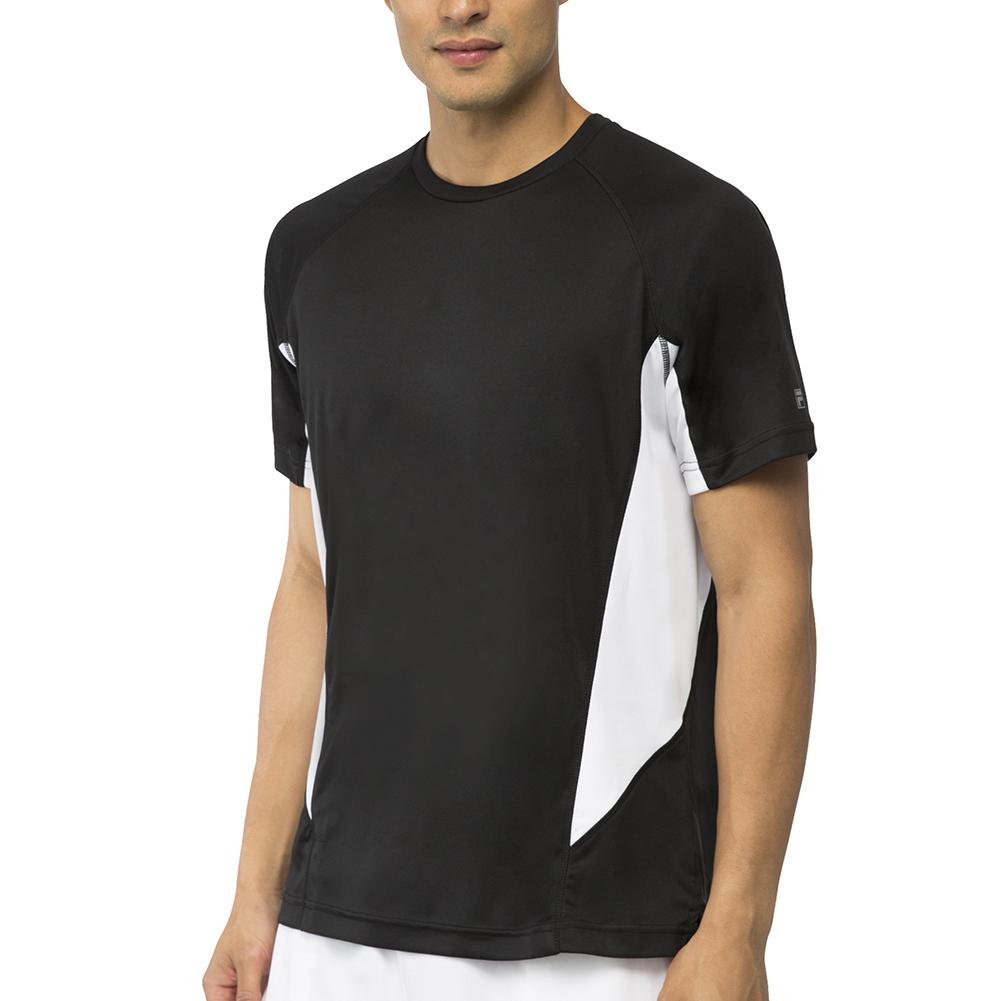 Men's Core Color Blocked Tennis Crew Black