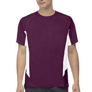Men`s Core Color Blocked Tennis Crew Team Maroon