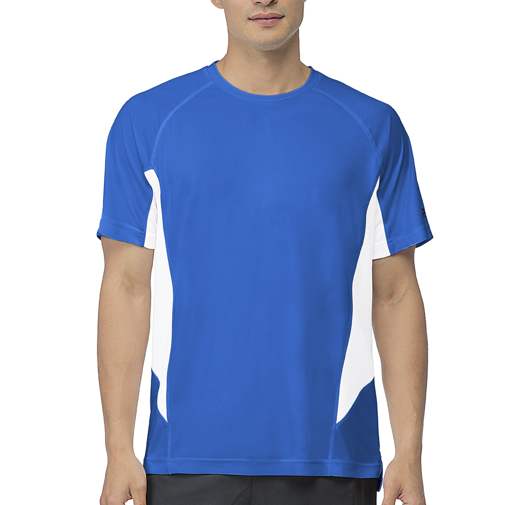Men's Core Color Blocked Tennis Crew Team Royal