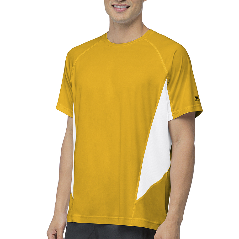 Men's Core Color Blocked Tennis Crew Team Gold