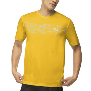 Men`s Core Diamond Printed Tennis Crew Team Gold