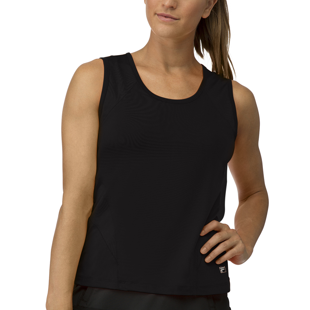Women's Core Full Coverage Tennis Tank Black