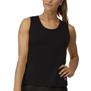 Women`s Core Full Coverage Tennis Tank Black