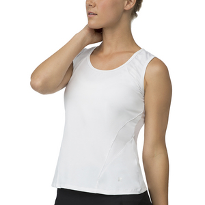 Women`s Core Full Coverage Tennis Tank White