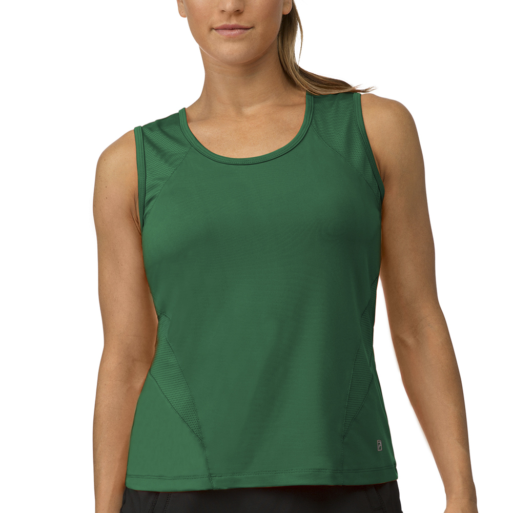 Women's Core Full Coverage Tennis Tank Team Forest Green