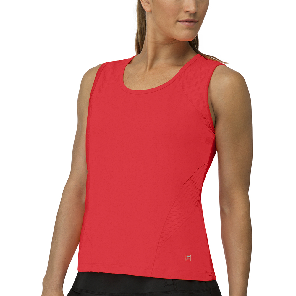 Women's Core Full Coverage Tennis Tank Crimson