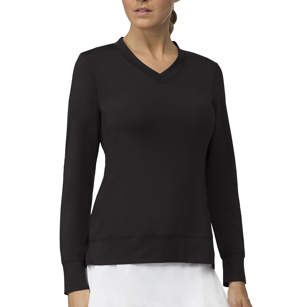 Women's Core Long Sleeve Tennis Top Black