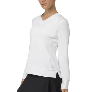 Women`s Core Long Sleeve Tennis Top White