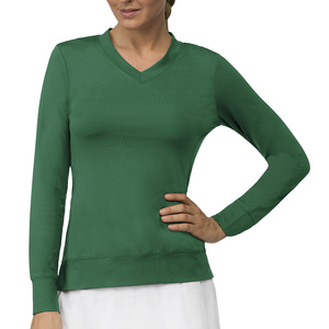 Women`s Core Long Sleeve Tennis Top Team Forest Green
