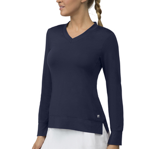 Women`s Core Long Sleeve Tennis Top Peacoat