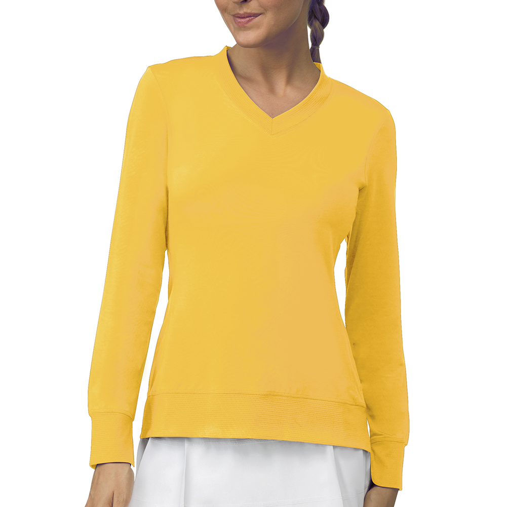 Women's Core Long Sleeve Tennis Top Team Gold