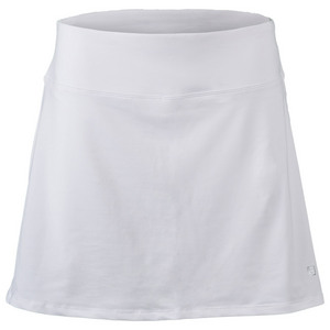 Women`s Core Flare 15 Inch Tennis Skort White