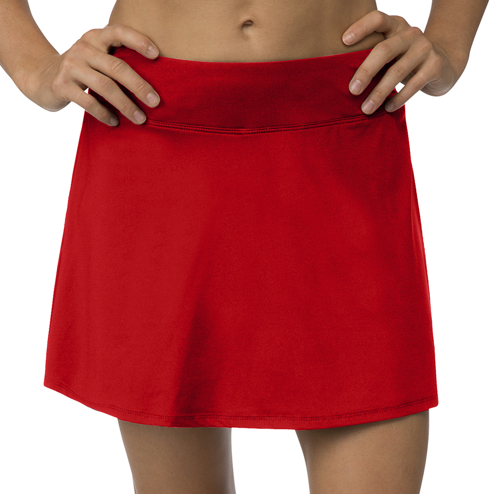 Women's Core Flare 15 Inch Tennis Skort Crimson