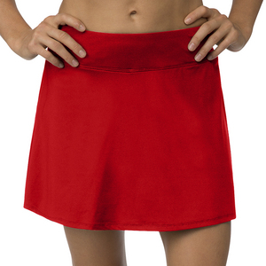 Women`s Core Flare 15 Inch Tennis Skort Crimson