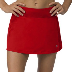 Women`s A-Line Tennis Skort Crimson